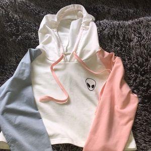 Jackets & Blazers - Cropped hoodie